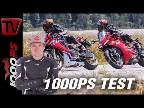 Ducati Panigale V4 vs Honda Fireblade SP Landstraße - Überraschungen!