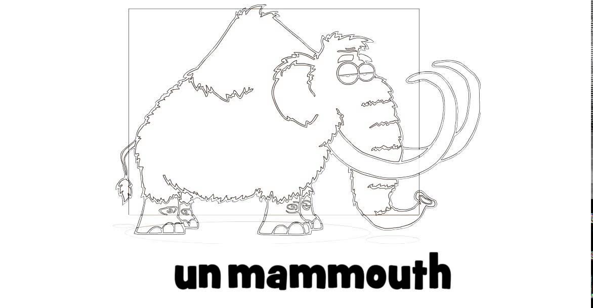 J Apprends A Lire 1 Dessin Un Mammouth Youtube