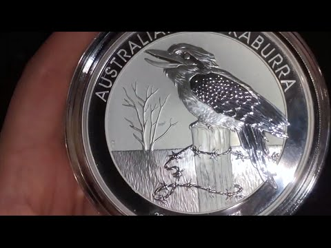 10oz Kookaburra 2016 Silver Coin Vs 1oz Silver Coin