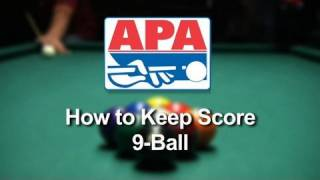 How to Keep Score While Playing 9-Ball in the APA Pool League