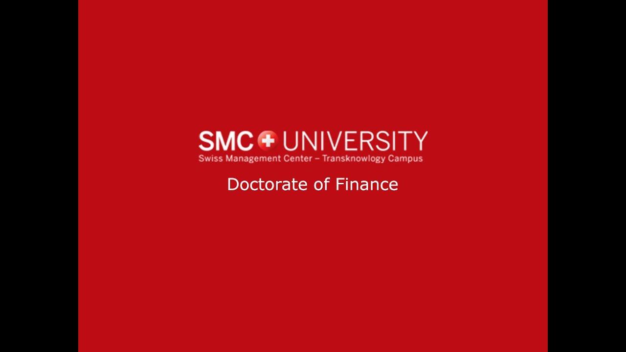 Phd in finance online