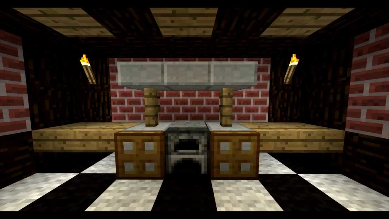 Des meubles sur minecraft pisode 3 la cuisine youtube for Minecraft meuble