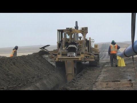 Pipeline Equipment  -  Trenching Wheel In Action