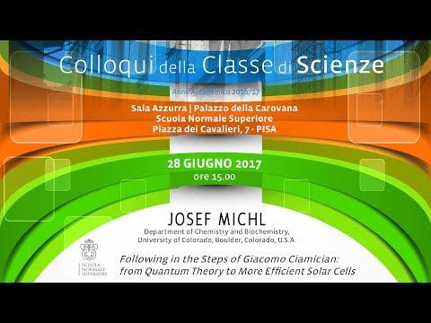 Josef Michl, Following in the Steps of Giacomo Ciamician... - 28 giugno 2017