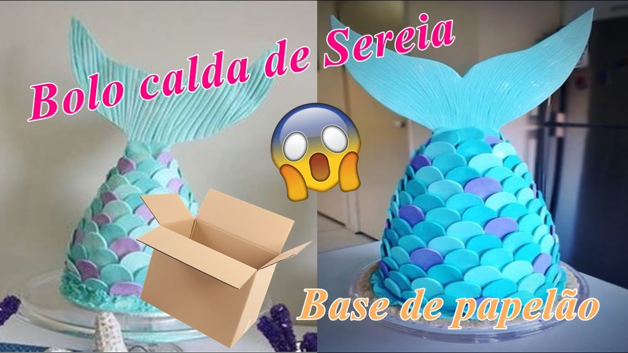 Bolo Cauda De Sereia Fake Diy Youtube
