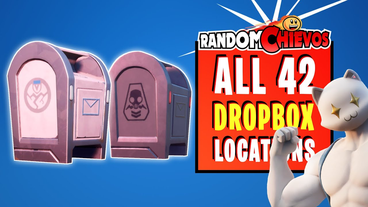 All 42 Dropbox Locations Ghost And Shadow Fortnite Youtube