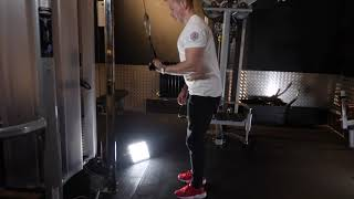 High Cable single Tricep push down