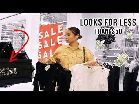 COME SHOPPING WITH ME: FOREVER 21 FITS FOR LESS THAN $50 | Maria Bethany