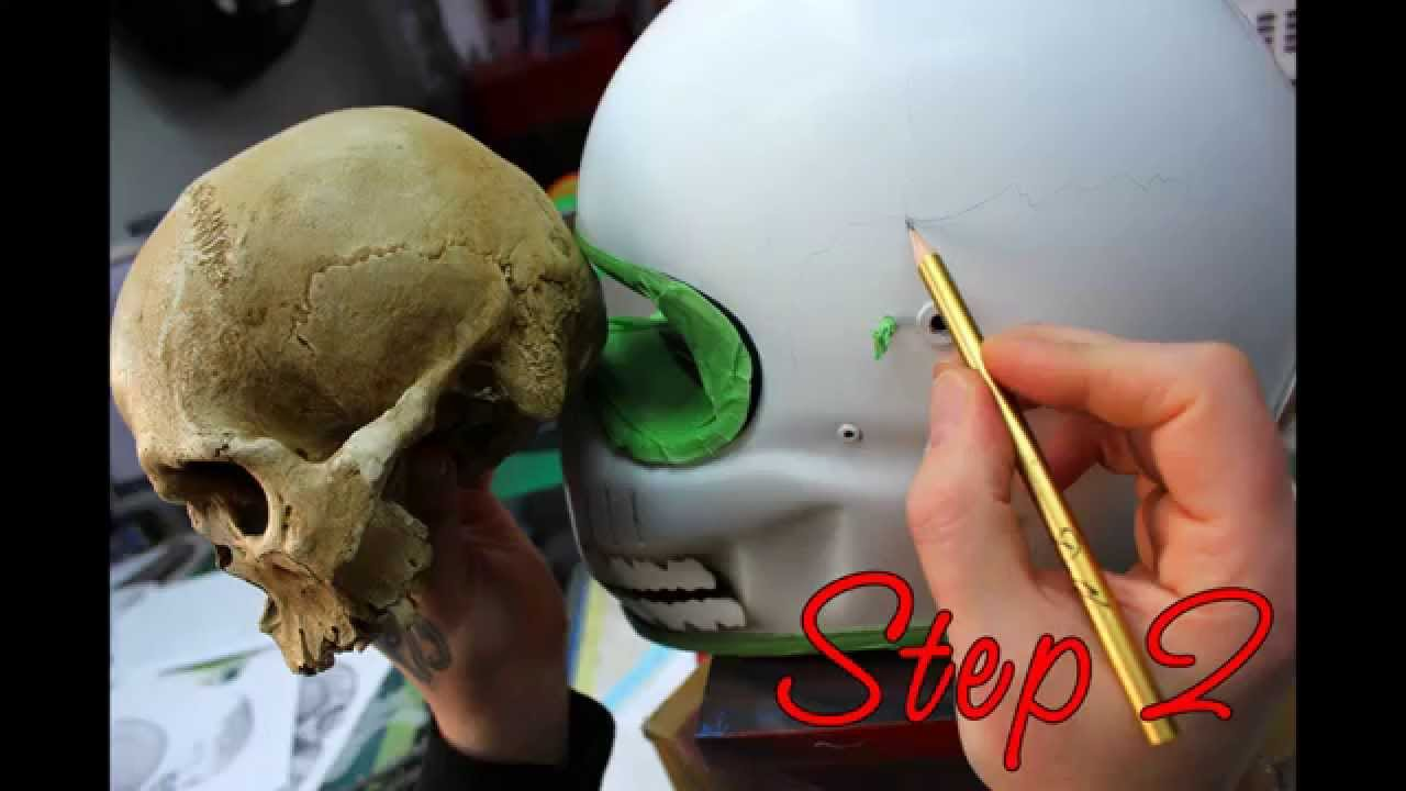Howto Airbrush Skull Helmet Youtube