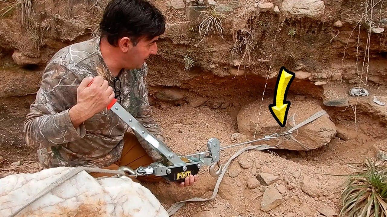 ¡DEPOSITO de ORO BAJO la ROCA! (2)BREAKING MY SECRET PLACE bedrock prospecting