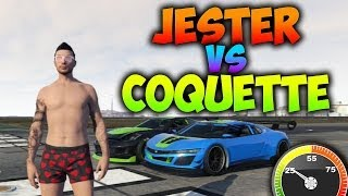 GTA 5 ONLINE | JESTER VS COQUETTE | TEST DE VELOCIDAD | GTA V 1.11 | BraxXter