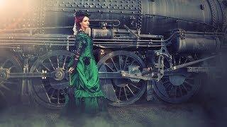 Lady with train simple Photo Manipulation | photoshop tutorial cc