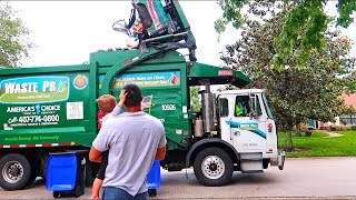 Jackson Goes In A Garbage Truck!