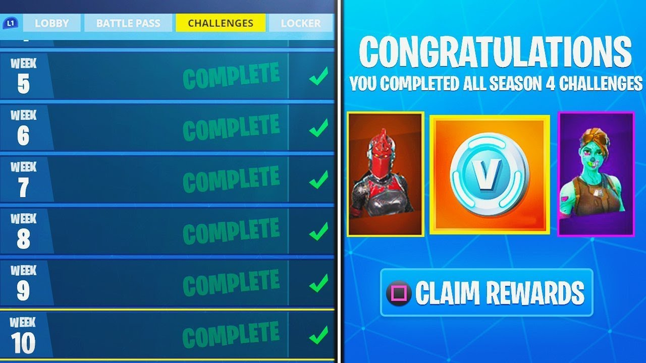 What Happens When You Complete Every Week Challenge In Fortnite