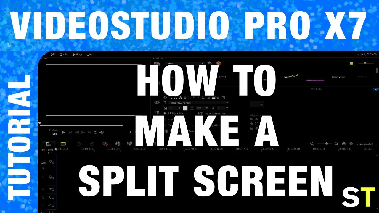 corel videostudio pro x7 how to make a split screen tutorial youtube. Black Bedroom Furniture Sets. Home Design Ideas