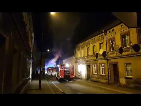 Pożar kamienicy w Leśnej ul.Sienkiewicza