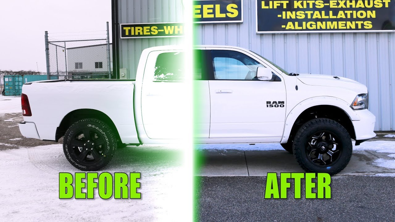 Custom 2018 Dodge Ram 1500 Before And After Modifications Youtube