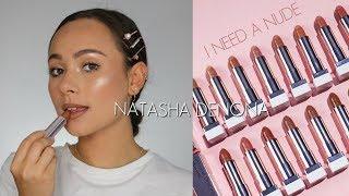 Natasha Denona I Need A Nude Lipstick Collection Lip Swatches & Review!