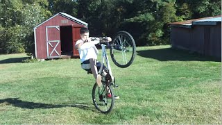 Mongoose Mountain Bike Wheelie Practice