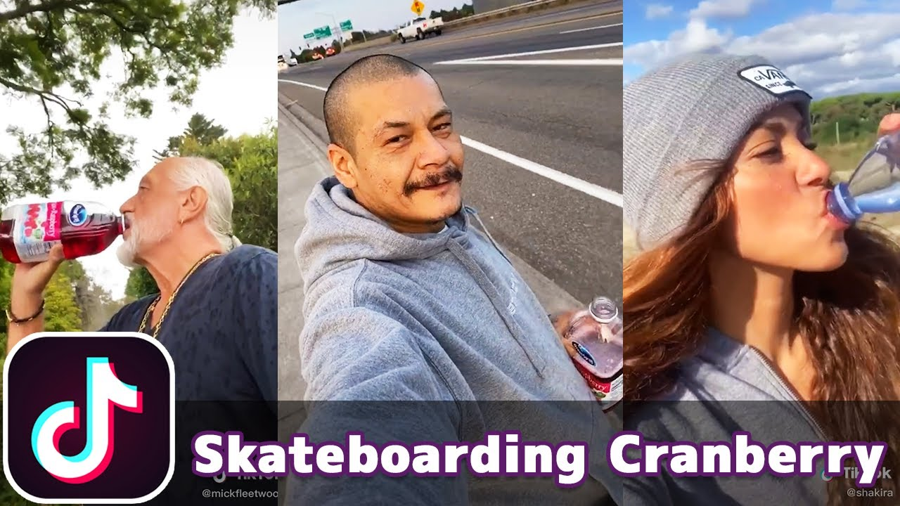 Skateboarding Drinking Cranberry Juice (Dreams - Fleetwood Mac) | TikTok Compilation