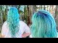 Blue Green Mermaid Hair Color Tutorial | Pulp Riot + Lunar Tides