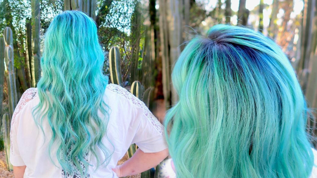 Blue Green Mermaid Hair Color Tutorial Pulp Riot Lunar
