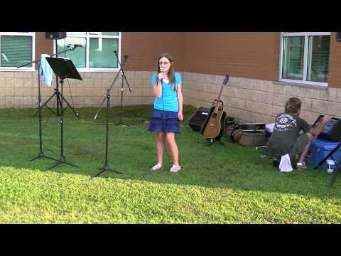 Kaylee King singing In Christ Alone by Adrienne Liesching 8-5-11