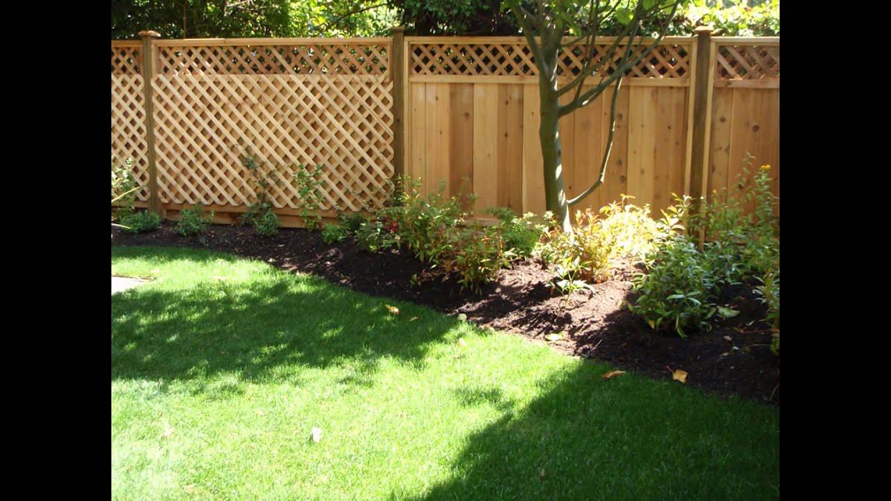 Backyard Fence Ideas Youtube