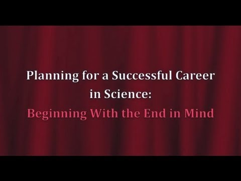 3/28/2012 Planning for a Successful Career in Science