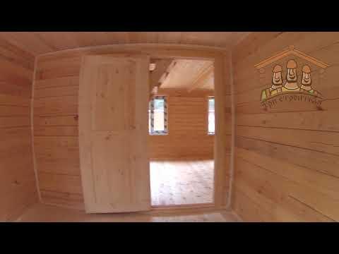 Отделка дома из бруса 6х6 метров с верандой от Три Строителя ||| Видео обзор