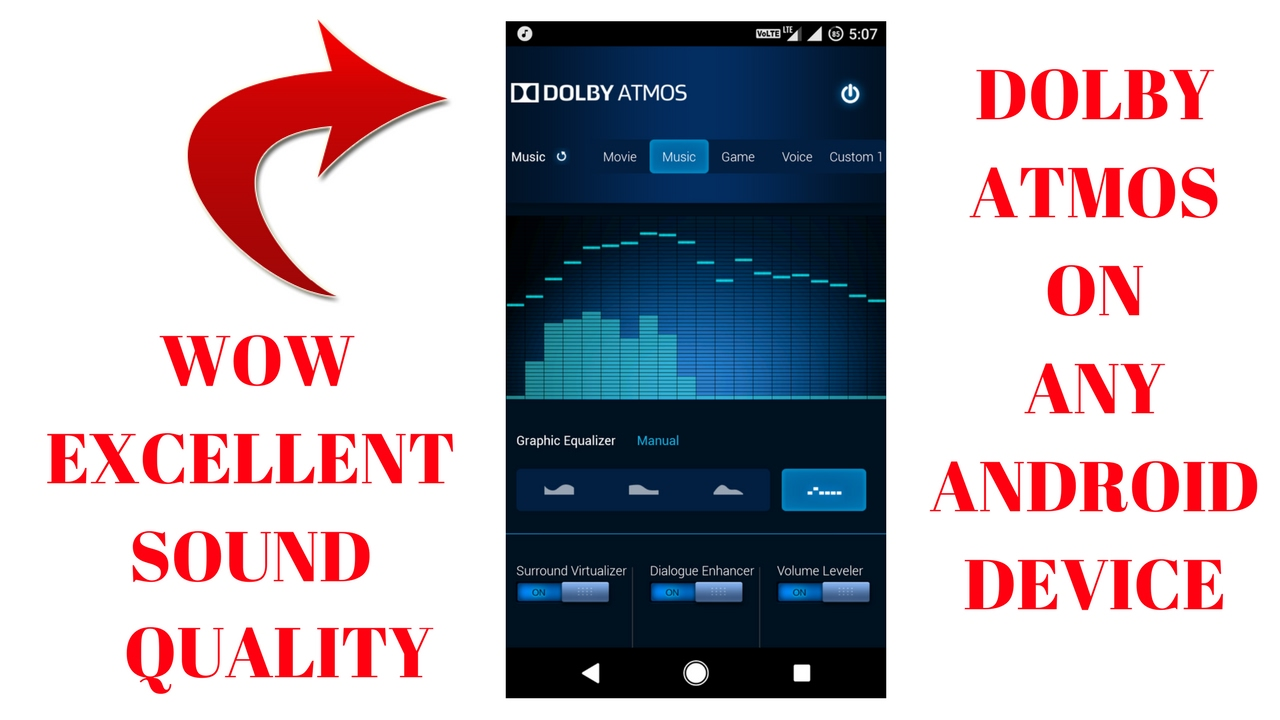 DOLBY ATMOS For Android Lollipop, Marshmallow & Nougat by Shivam Kapoor