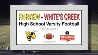 2018 11 2 SPORT FVHS Football vs Whites Creek playoff
