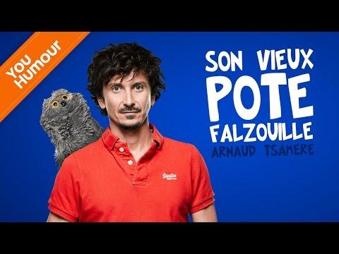 Arnaud Tsamere & son vieux pote Falzouille...
