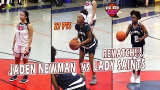 Jaden Newman vs Jada Eads & Trinity Turner | Downey High vs Lady Saints
