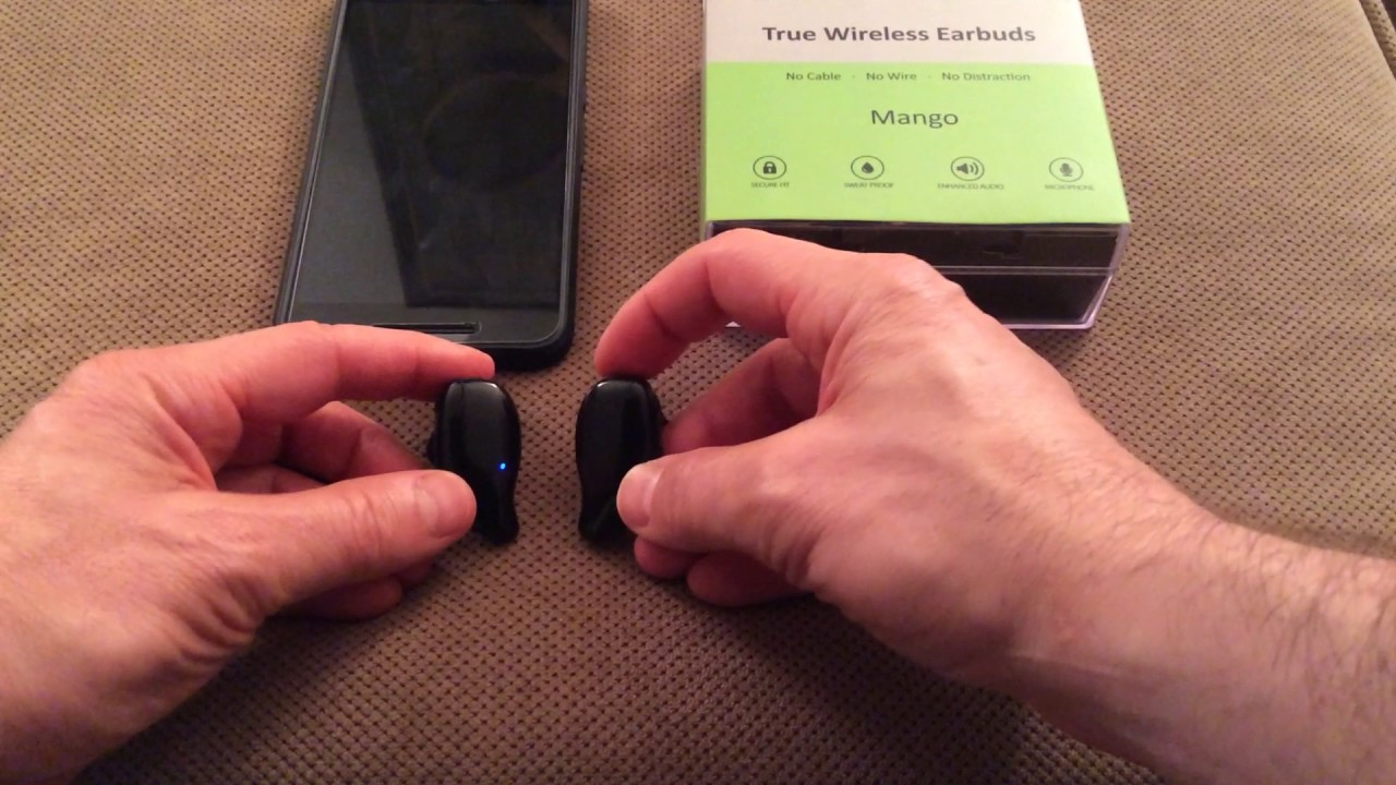 39cbf9ed998 Pairing The Mango True Wireless Earbuds - YouTube