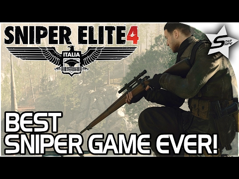 The BEST SNIPER GAME EVER!! - KILLING HITLER'S ELITE! - Sniper Elite 4 Gameplay Walkthrough Part 1