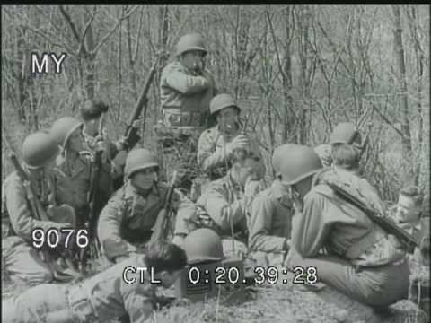 WWII Soldiers listen to Radio