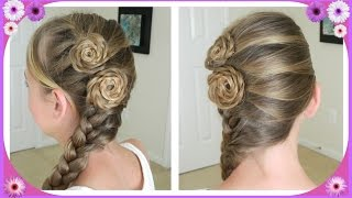 Flower Accented Side French Braid / Spring Hairstyles / Bonita Hair Do