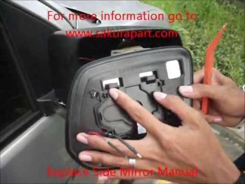 Replace Side Mirror Manual Instrallation Youtube