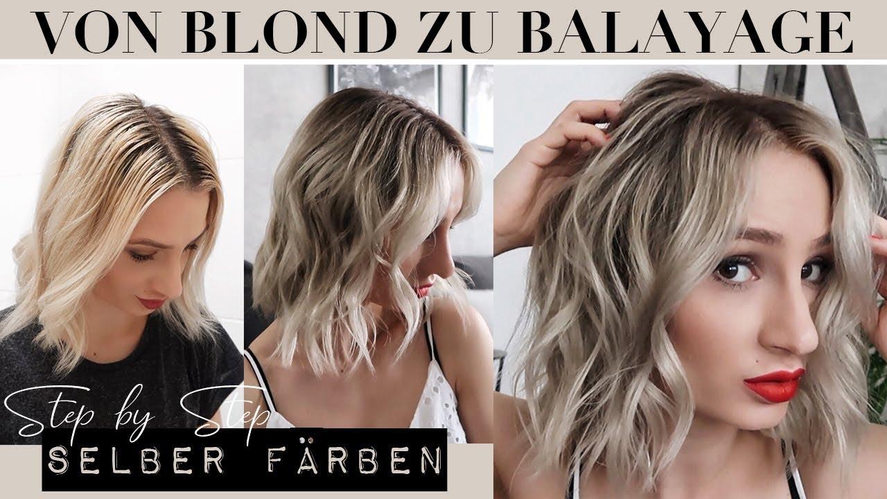 Von Blond Zu Balayage Haare Selber Farben Youtube