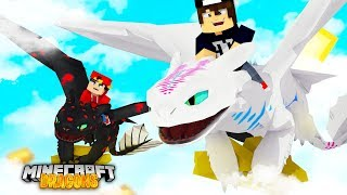 Minecraft DRAGONS - JACK TAMES THE SOUND WAVE LIGHT FURY!