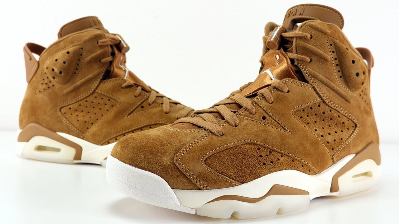buy online 181c3 b24d4 AIR JORDAN 6 WHEAT REVIEW