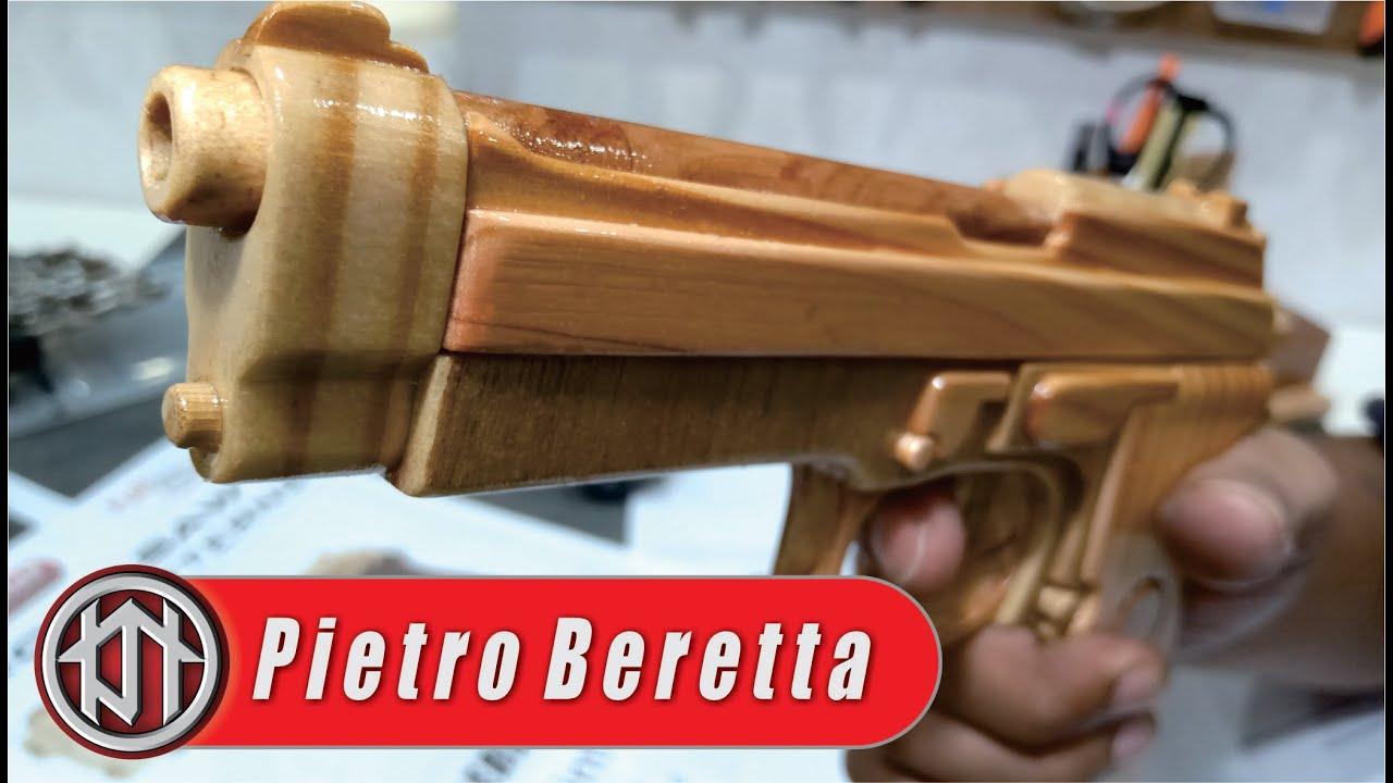 Membuat pistol kayu mainan - model pietro beretta-92FS
