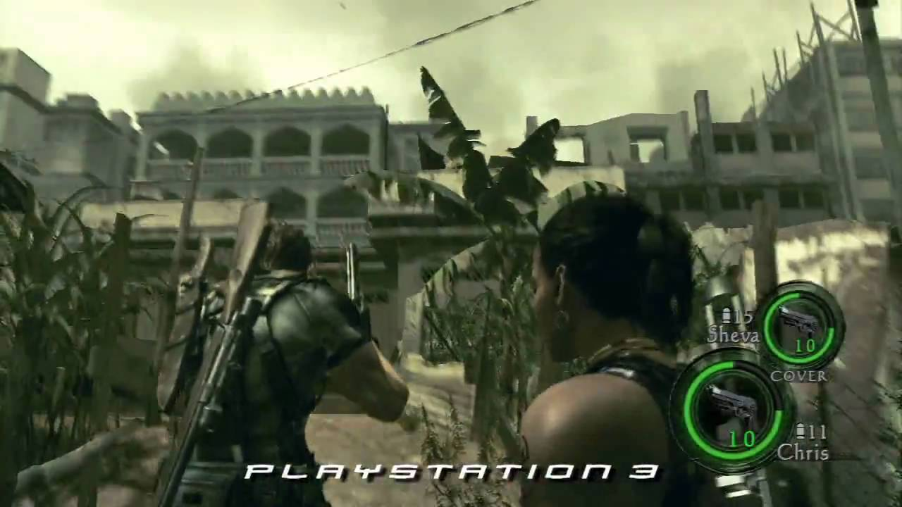 Resident Evil 5 Xbox 360 Vs Ps3 Comparison Youtube
