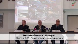 Pressekonferenz – Antworten auf Journalistenfragen zum Raser-Unfall in Hagen