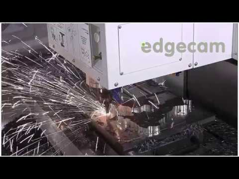Edgecam driving the Romi D1000 with Quickgrind Qplus solid carbide tooling