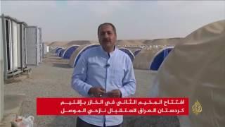 توسيع مخيم الخازر لاستقبال المزيد من نازحي الموصل