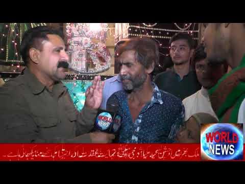 world news ki team karachi k awam ke sat jashne eid meladunabi manate howe