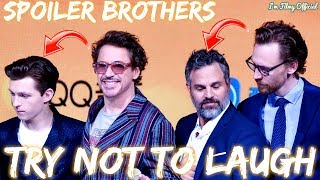 Avengers 4: Endgame Cast Continuously Roasts Spoiler Brothers - Tom Holland & Mark Ruffalo