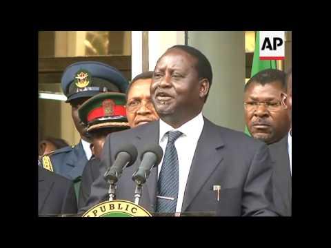 WRAP Rival politicians sign agreement, Annan, clashes ADDS Kibaki, Odinga